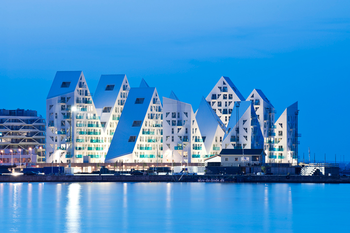 The Iceberg building by CEBRA architecture located at the harbor - Aarhus, Denmark.