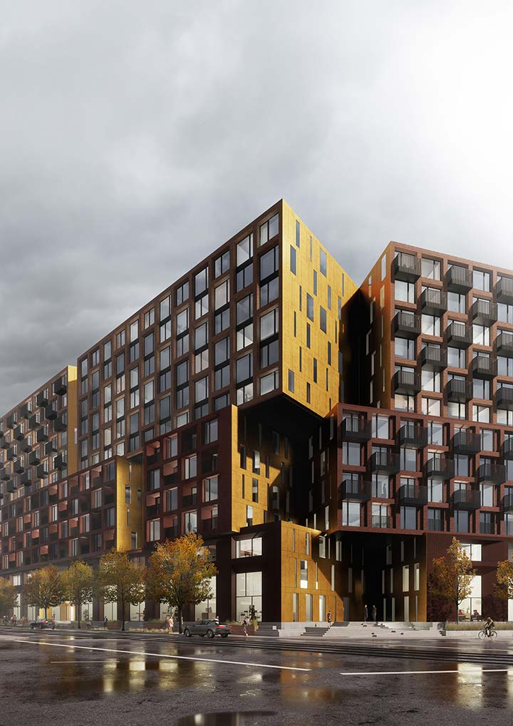 Broadview and Eastern is designed to form a new district gateway towards a prominent avenue intersection