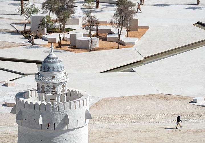 Qasr Al Hosn historical site in Abu Dhabi, UAE. Project by CEBRA Architecture.
