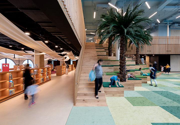 The Children's Library project by CEBRA Architecture in Qasr Al Hosn historical site - Abu Dhabi, UAE.
